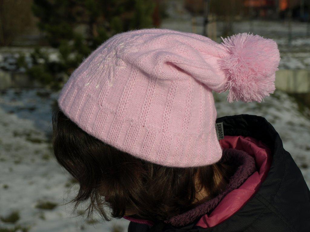Zimní čepice Tassel SKHOOP - světle růžová
