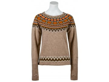 Zimní vlněný svetr Nordic SKHOOP - khaki