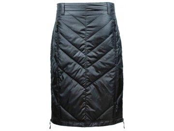 Zimní péřová sukně přes kalhoty Mina Mid Down SKHOOP - černá
