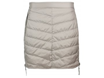 Zimní oboustranná péřová sukně Reversible SKHOOP - písková/ledová