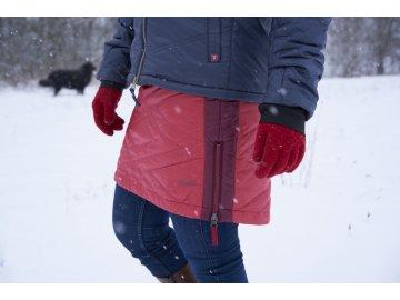 Zimní prošívaná péřová sukně Molly Down SKHOOP - sweet red