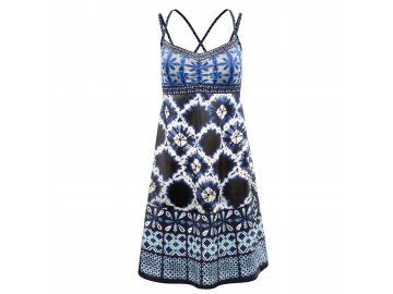 S20156023D 00 Dress Kimera Woman X072 Shibori