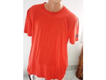 pánské merino tričko s potiskem na zádech M GRAPHIC TEE - HIGH RISK RED/ vel. L