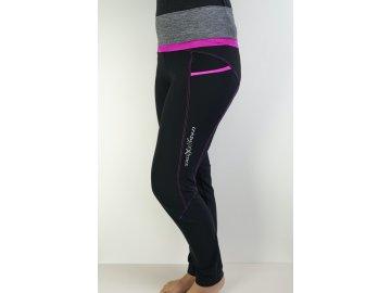 Zimní dámské sportovní  elastické kalhoty Exit CRAZY - pink