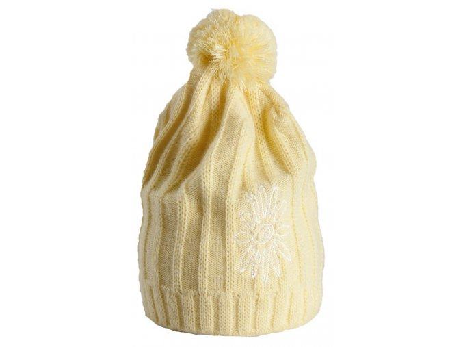 Zimní čepice Tassel SKHOOP - žlutá