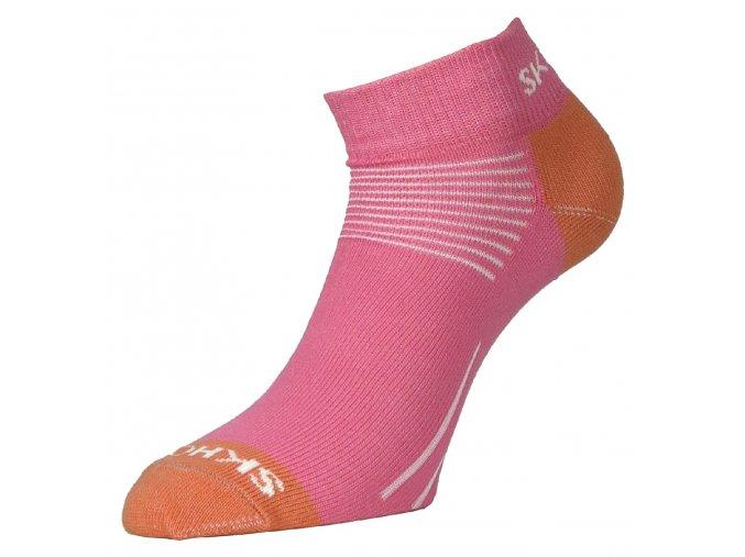 Dámské merino ponožky Mini SKHOOP - růžová