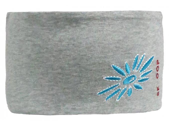Široká čelenka Jersey SKHOOP - šedá