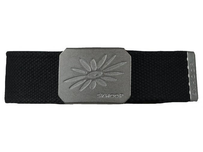 Pásek s kovovou přezkou SKHOOP Belt - černý black