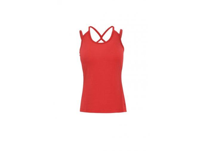 Dámské tílko Strappy Back 175 [sn] - hibiscus/red