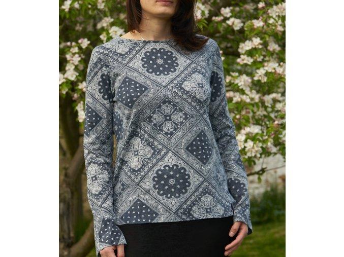 Dámské triko s dlouhým rukávem Roxy SKHOOP - modrá