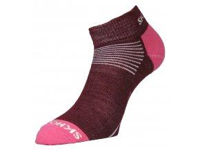 Dámské merino ponožky Mini SKHOOP - červená řepa