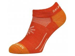Dámské merino ponožky Mini SKHOOP - spicy orange