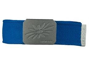 Pásek s kovovou přezkou SKHOOP Belt - methyle blue