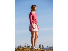 Letní funkční mini sukně Flora SKHOOP - carmine pink