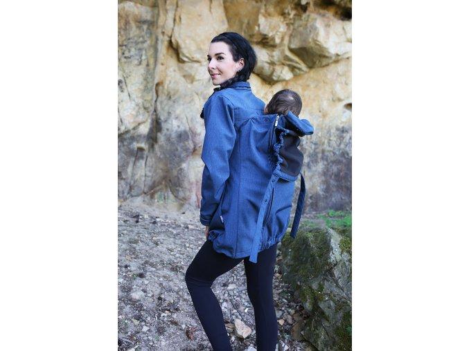 nošení na zádech, nosicí bunda Gemini modrá