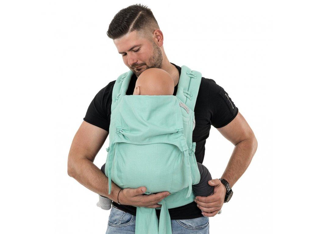 flowclick half buckle babytrage chevron mint toddler