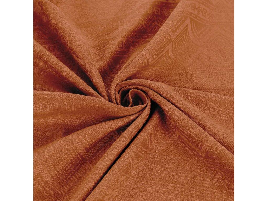 Šátek na nošení dětí Fidella - Cubic Lines Rustred