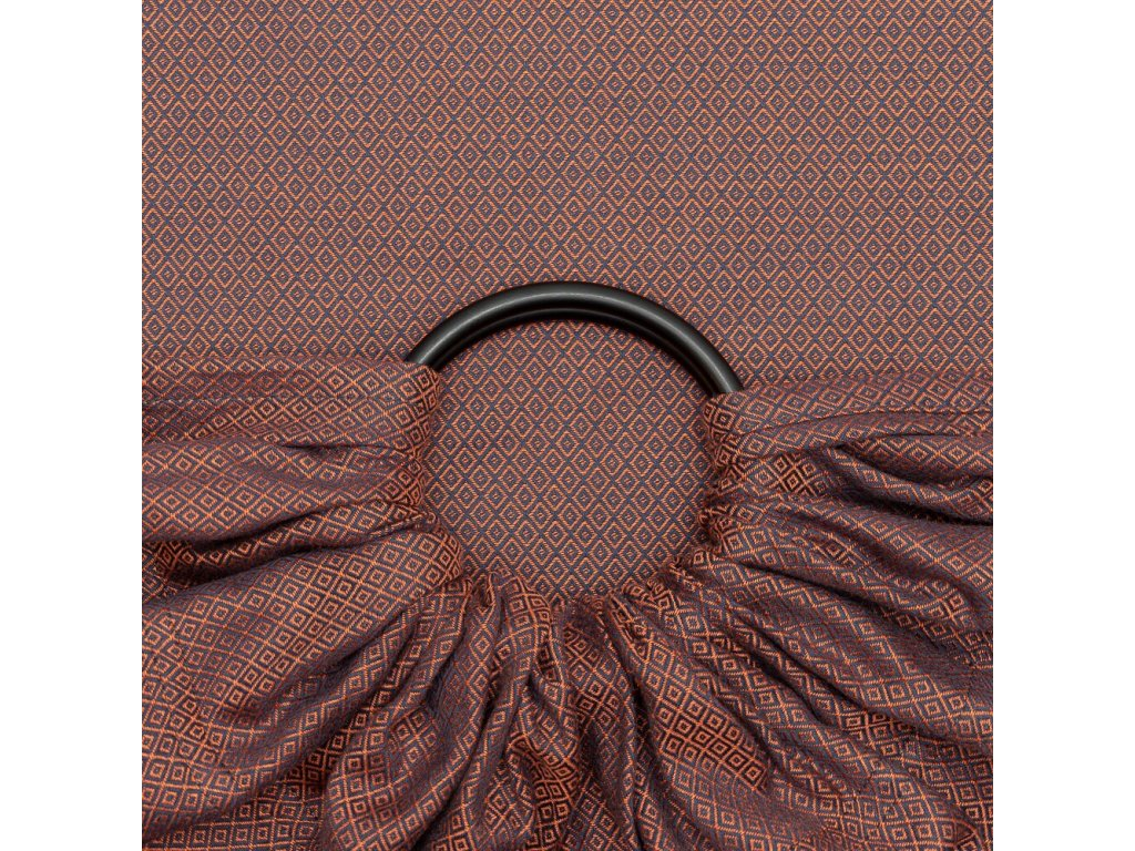 fidella ring sling diamonds rustred