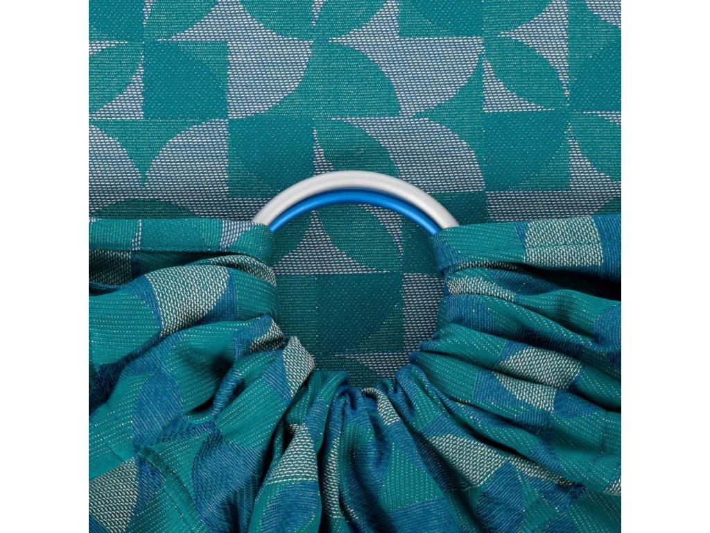 fidella baby wrap kaleidoscope ocean teal ring sling