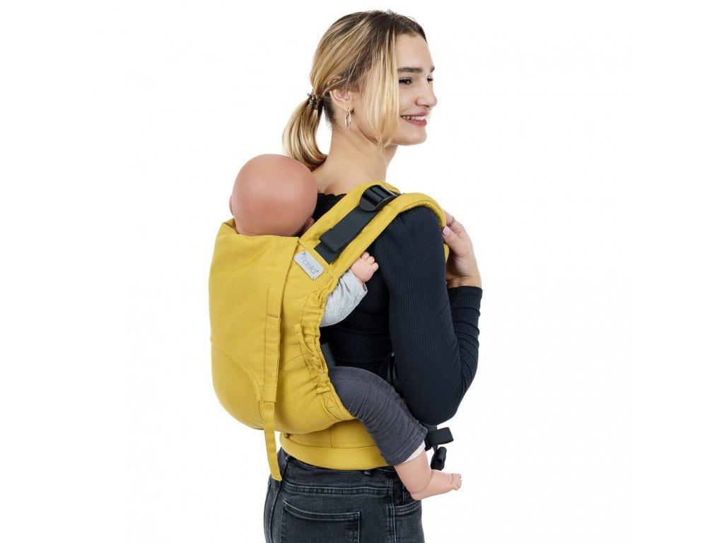 fusion v2 full buckle tragehilfe chevron senfgelb toddler