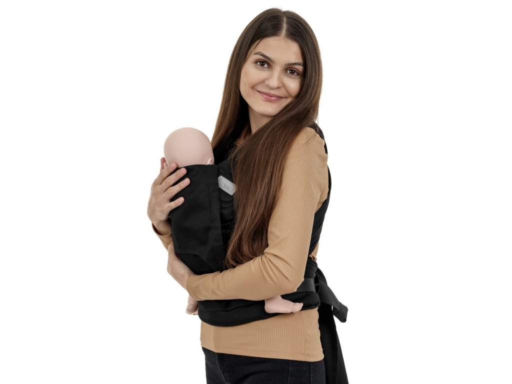 fidella flyclick half buckle babytrage chevron schwarz baby 1