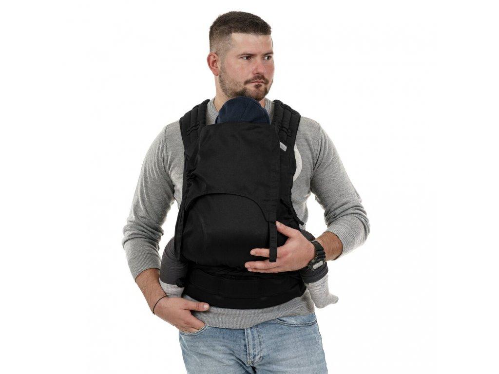 fidella flyclick plus half buckle babytrage chevron schwarz toddler
