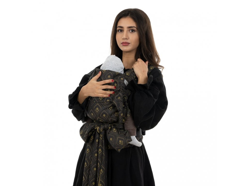 flyclick halfbuckle baby carrier peacock midnight gold baby