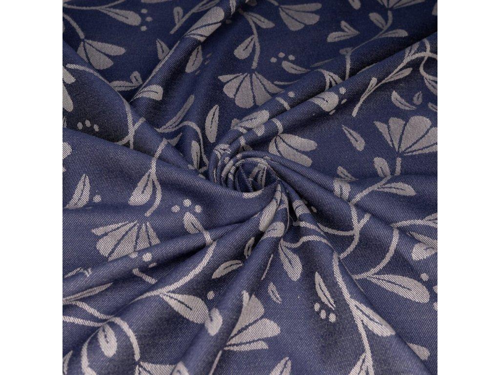 Šátek na nošení dětí Fidella - Floral Touch Eclipse Blue