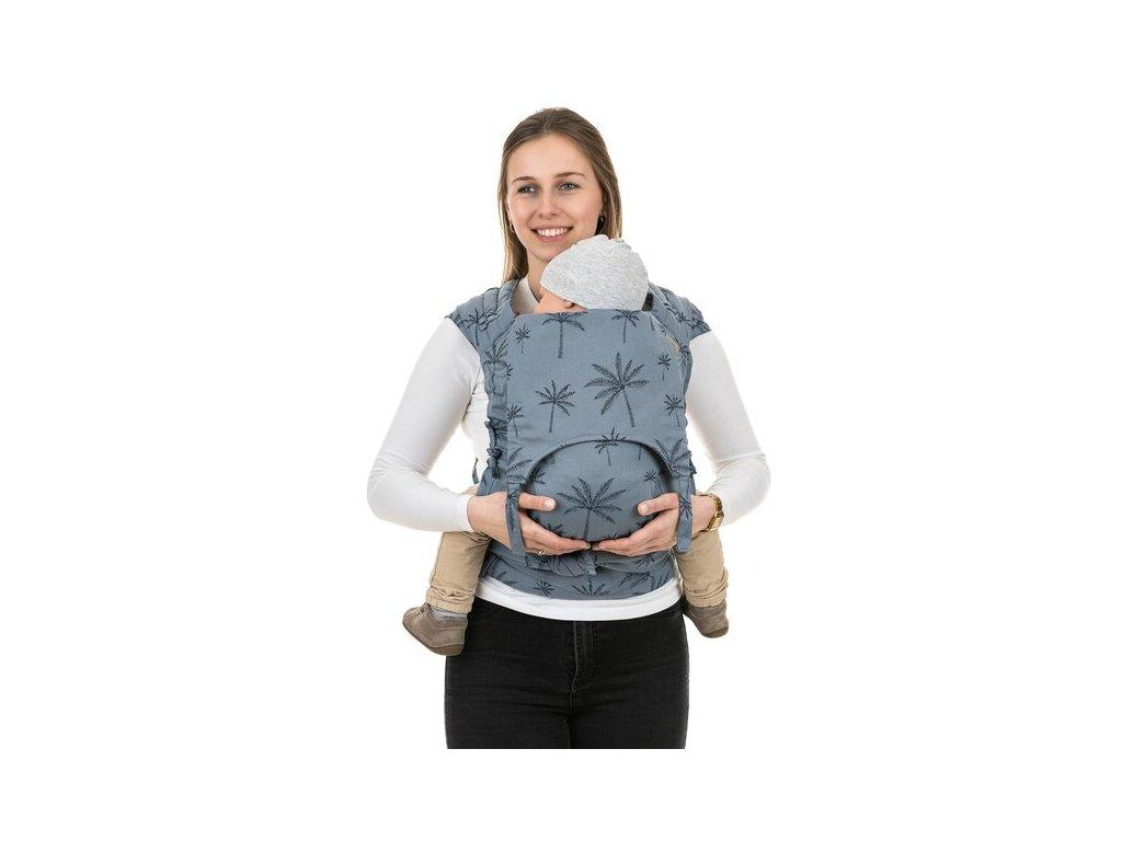 Ergonomické rostoucí nosítko Fidella FlyClick Plus (Toddler) - Palm Trees Dove Blue