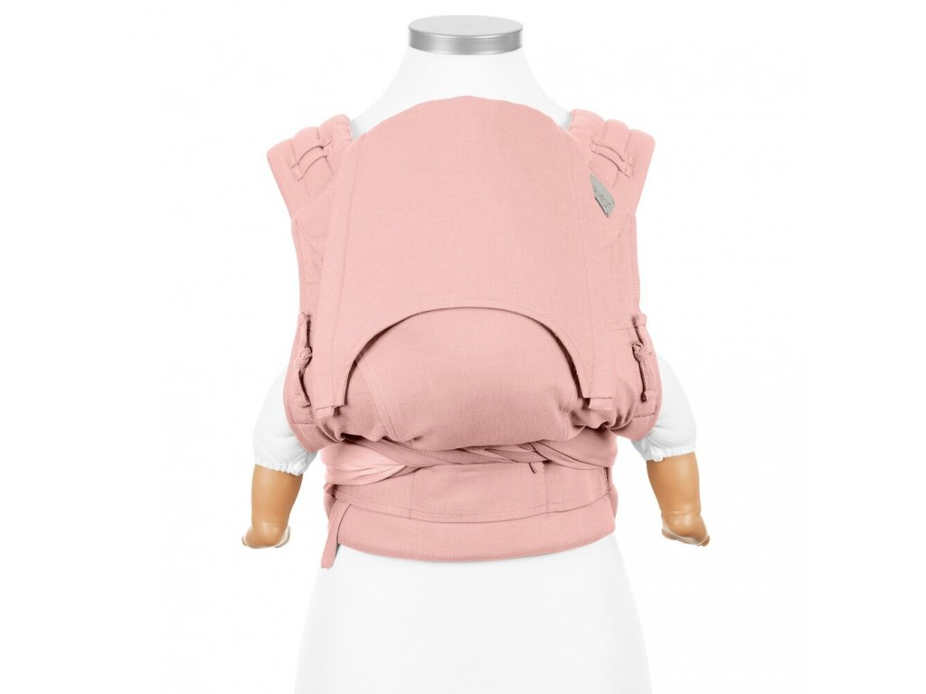 ergonomické nosítko Fidella flyclick half buckle babytrage chevron rose baby