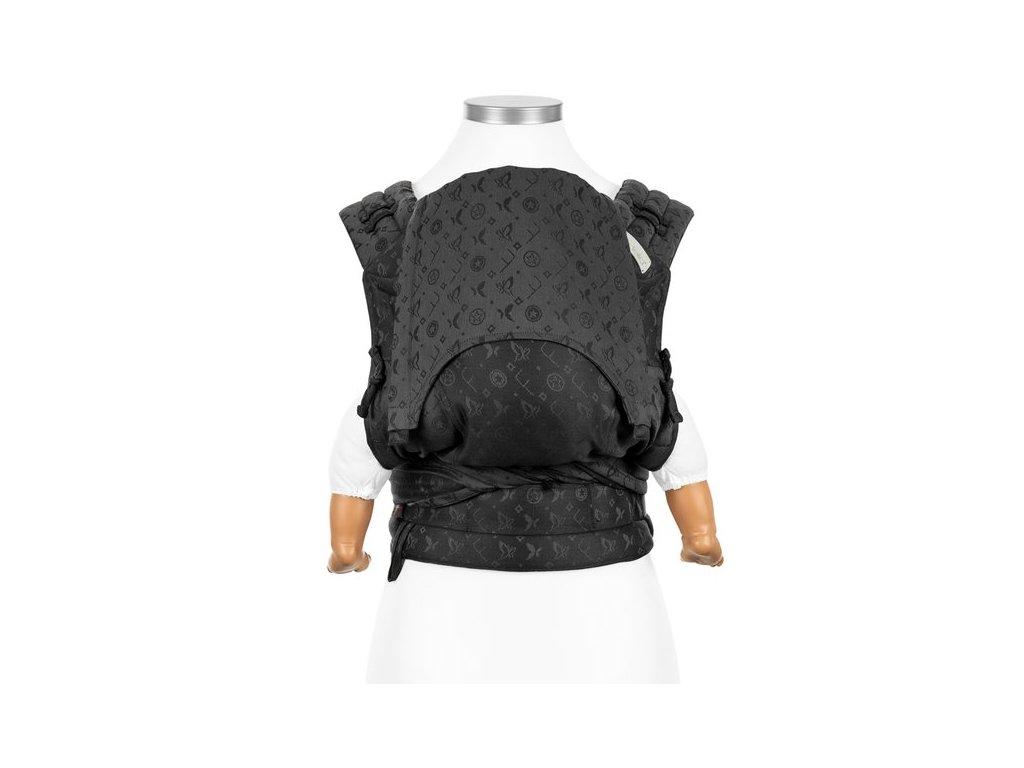 ergonomické nosítko fidella flyclick halfbuckle baby carrier saint tropez charming black baby