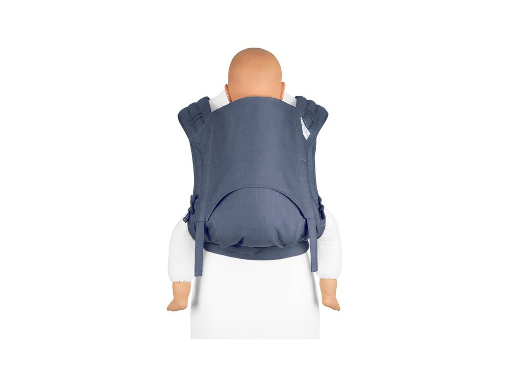 ergonomické nosítko fidella flyclick plus baby carrier classic chevron denim blue