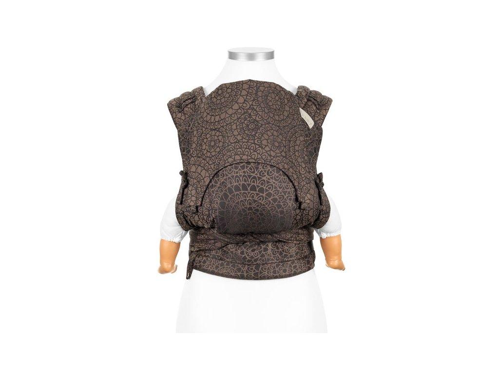 Ergonomické nosítko fidella flyclick halfbuckle baby carrier mosaic mocha brown baby