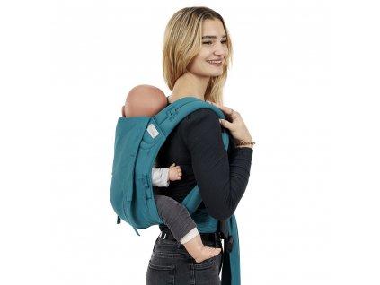 flowclick half buckle babytrage chevron petrol toddler
