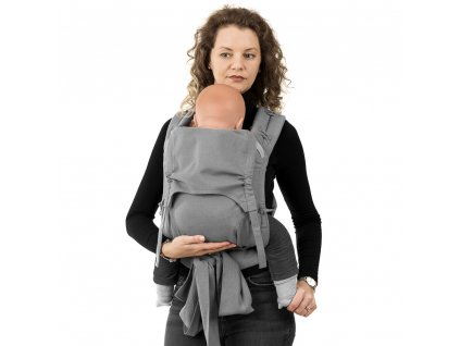 flowclick halfbuckle baby carrier chevron light gray toddler