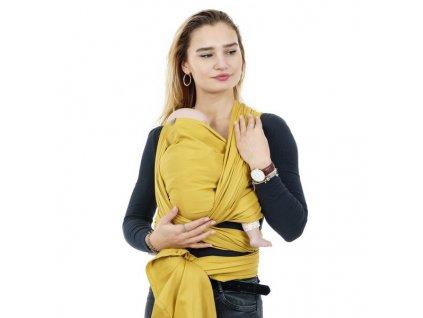 Šátek na nošení dětí Fidella  - Chevron Mustard