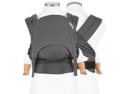 ergonomické nosítko fidella flowclick halfbuckle baby carrier chevron anthracite baby