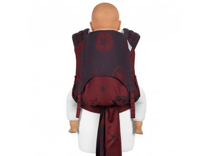 ergonomické nosítko fidella flyclick plus baby carrier classic outer space ruby red