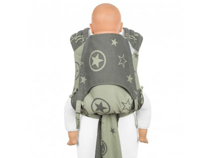 ergonomické nosítko fidella flyclick plus baby carrier classic outer space reed green