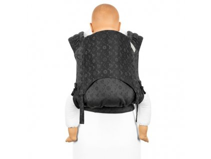 ergonomické nosítko fidella flyclick plus halfbuckle baby carrier saint tropez charming black toddler