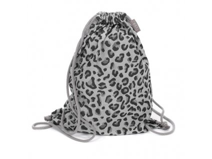 daybag leopard silver