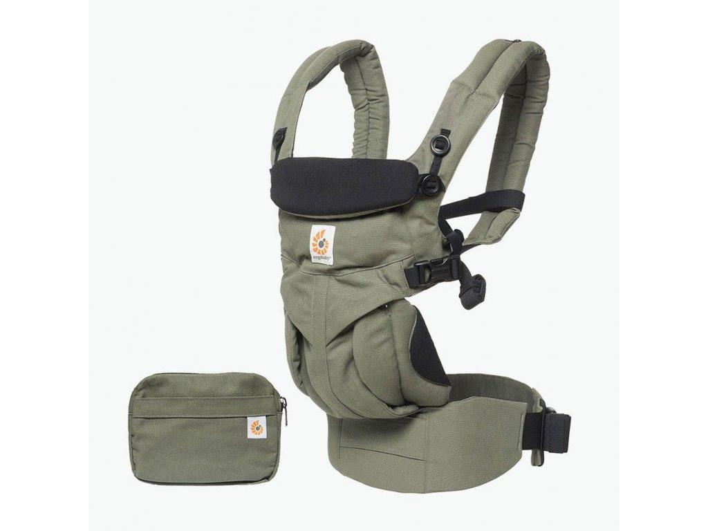 Ergo Baby 360 OMNI Khaki Green  + 1x pár návlečků na nožičky