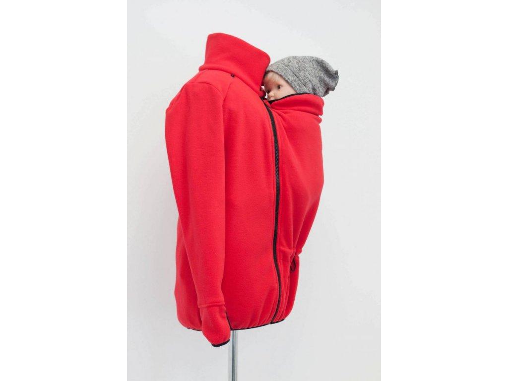 Angel wings Mikina fleece s nosící i těhotenskou vsadkou