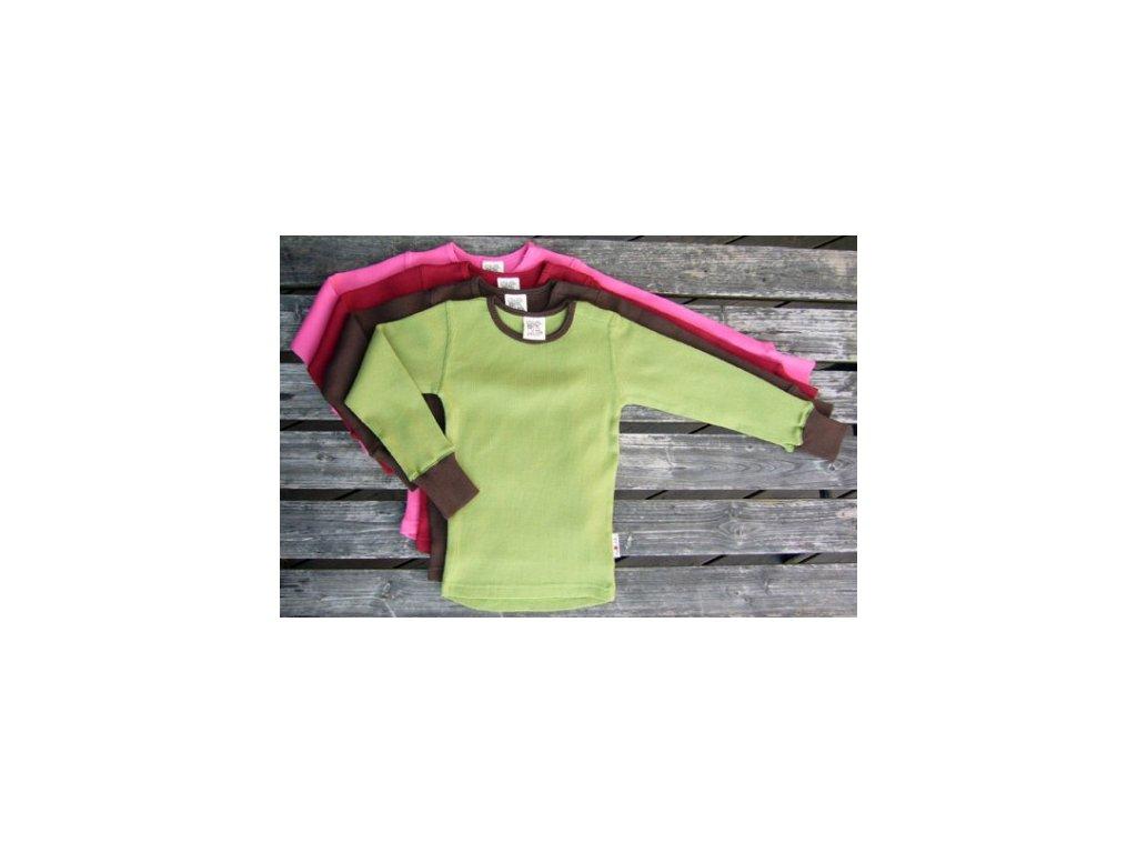 ManyMonths tričko dlouhý rukáv merinovlna (Barva Royal Turquoise, Velikost Innovator...5-7/7,5 let)