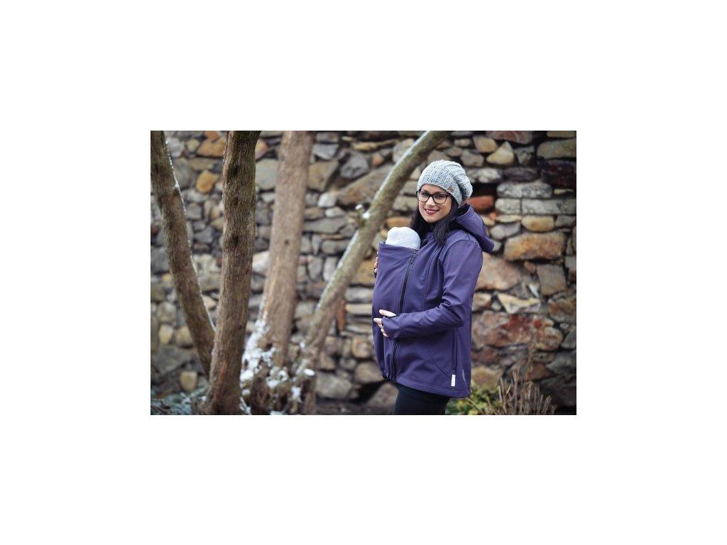 cz 2158 softshell bunda svestkove fialova f2