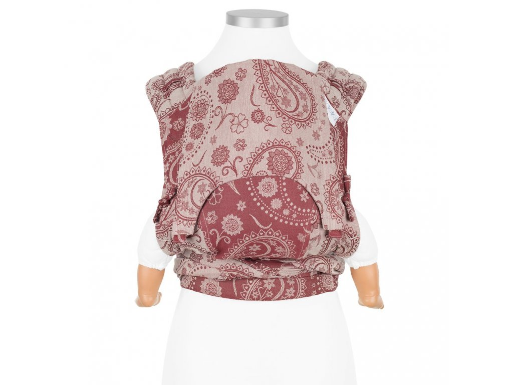 fidella flyclick baby carrier classic persian paisley ruby red
