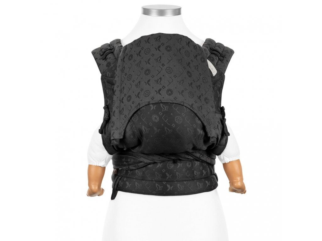 flyclick halfbuckle baby carrier saint tropez charming black baby