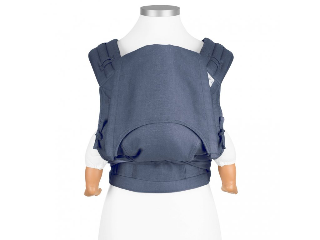 fidella flyclick baby carrier classic chevron denim blue