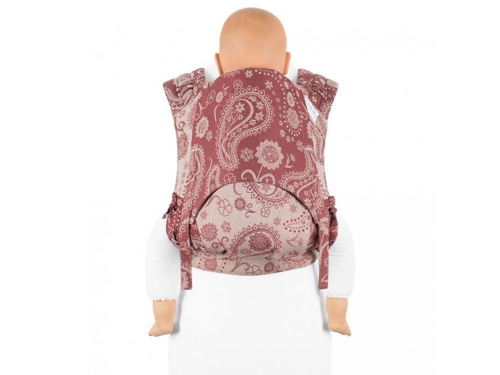 fidella flyclick plus baby carrier classic persian paisley ruby red