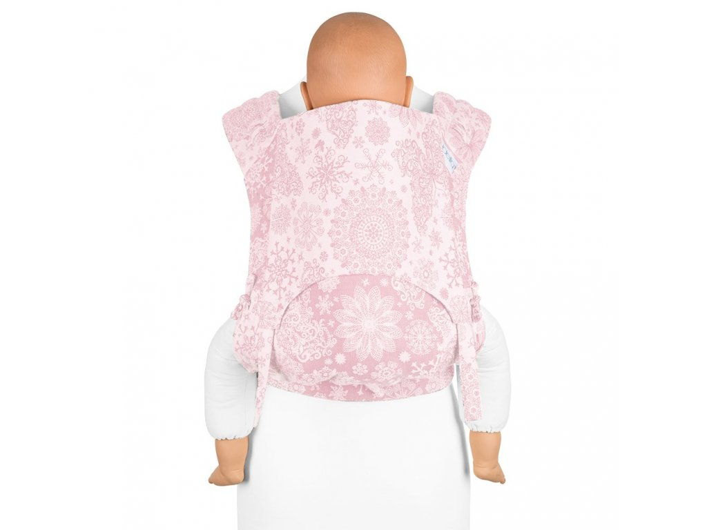 fidella flyclick plus baby carrier classic iced butterfly pale pink